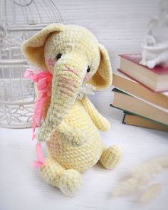 In this article I will share a wonderful amigurumi pattern again. You can enjoy this beautiful amigurumi elephant free english pattern.  Materials  Yarn Pekhorka children's novelty,  1 skein of the main color, half  skein of a different color  Hook 1.5-1.75 Art All The Way, Bunny And Bear, Unicorn Cat, Elephant Pattern, Little Elephant, Soft And Gentle, Crochet Bunny, Safari Animals, Toddler Gifts