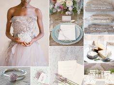 lavender wedding inspiration with driftwood details and a lavender bridal gown