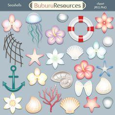 Seashells Free clipart set by BuburuResources.deviantart.com on @deviantART