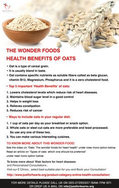Health benefits of Oats for Heart Health