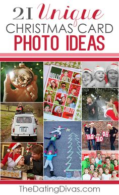 Such cute and clever ideas for family Christmas cards. Can't wait to get our Christmas pictures taken now! www.TheDatingDivas.com