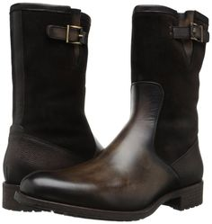 - Leather and suede upper with tonal stitching. - Leather lining and insole. - Synthetic and leather lug outsole. - Measurements: - Heel Height: 1 in - Circu Brown Dress Boots, Dress With Boots, Brown Boots, Stylish Boots, Casual Boots, Stylish Men, Sock Shoes, Men's Shoes, Shoe Boots