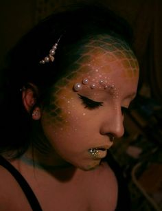 Cool mermaid makeup