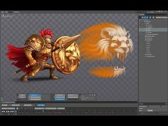 Gladiator. Spine animation. - YouTube