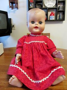 Vintage hard plastic doll from the late 1950's