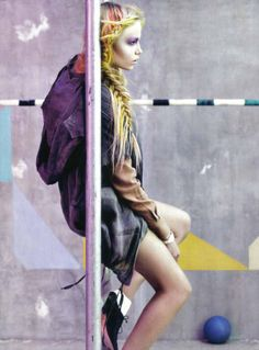Multi-Hued Hairitorials - Model Natasha Poly Gets 'Glam and Sporty' in Vogue Italia (GALLERY)