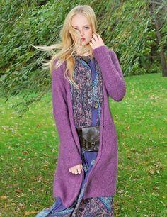 369729d18f2 NobleKnits Yarn Shop - Blue Sky Alpacas Brushed Suri Avalon Cardigan  Knitting Pattern