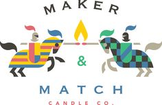 Maker & Match by Adam Anderson #logo #mark #brand #id #identity #knight #horse #fire #symbol #illustration