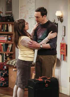 Photos - The Big Bang Theory - Season 10 - Promotional Episode Photos - Episode - The Gyroscopic Collapse - Big Bang Theory, The Big Theory, Sheldon Amy, Amy Farrah Fowler, Joey Lawrence, Melissa Rauch, Mayim Bialik, Jim Parsons, Couple