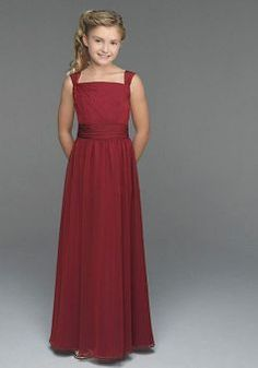 3a4d0f9f2ffeb Junoesque Chiffon Square A line Floor Length Junior Bridesmaid Dress -  1300253119B - US 89.29 -