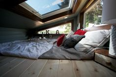 That's what I want, a big window that I can open/close & look up at the stars. Cozy Master Loft From Tiny