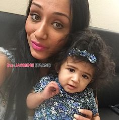 Royalty Brown  Chris brown's daughter with her mom