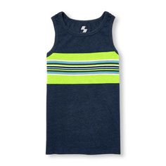 Boys Boys Place Sport Sleeveless Pieced Stripe Tank Top - Blue - The Children's Place