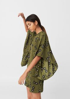 Floral ruffled dress -  Women | MANGO USA