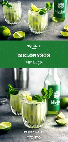 Melonysos Melon Lemonade with Ouzo Ouzo Drinks, Cocktails, Alcoholic Drinks, Melon Lemonade, Recipe Please, Cooking Instructions, 30 Minute Meals, Greek Recipes, Favorite Recipes
