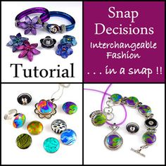 Interchangeable Jewelry Pieces from Polymer Clay in a Snap!