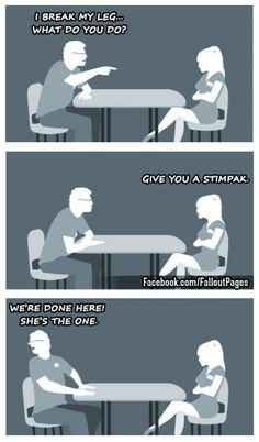 Yep shes the one!  Join me on Facebook >> Everything Fallout << and maybe youll find the right one for you there who knows? ;)  fallout fallout 4 speed dating speed date fallout date fallout dating stimpak
