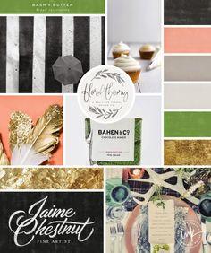 Brand Launch: Bash + Butter - Salted Ink Design Co. Branding Process, Colour Pallete, Color Palettes, Blog Design, Design Files, Web Design, Presentation Layout, Build Your Brand, Wedding Show