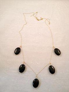 Black Onyx Statement Necklace.