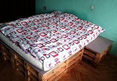 DIY Pallet bed - see how it was made by clicking the link