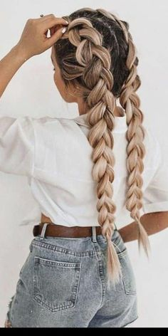 Cool Braid Hairstyles, Easy Hairstyles For Long Hair, Braids For Long Hair, Summer Hairstyles, Short Hair, Protective Hairstyles, Easy Hair Braids, Cute Sporty Hairstyles, Hairstyles For Teens