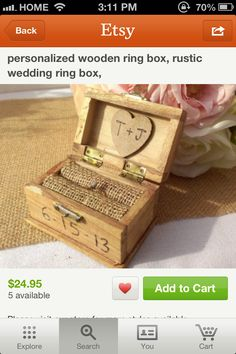 Love this ring box too