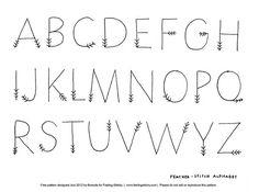 Writing ~ Bullet Journal ~ Cute alphabet, letters look like feathers on a arrow via floresita Alphabet Design, Cute Alphabet, Hand Lettering Alphabet, Doodle Lettering, Creative Lettering, Lettering Styles, Alphabet Letters, Fancy Writing Alphabet, Handwriting Fonts Alphabet