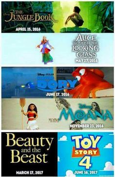 New movies disney is making. I'm really looking forward to beauty and the beast and Alice through the looking glass