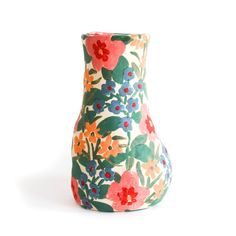 Image of Spring Garden Vase Ceramic Clay, Ceramic Painting, Ceramic Vase, Ceramic Pottery, Slab Pottery, Painted Pottery, Porcelain Ceramic, Pottery Vase, Pottery Painting Designs