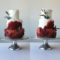Torn paper effect wedding cake. Jasmine Rae Cakes