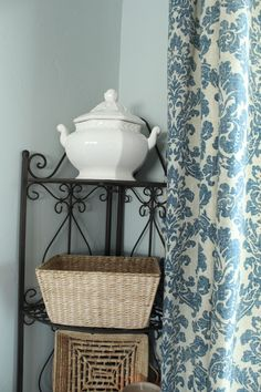 blue on blue curtains