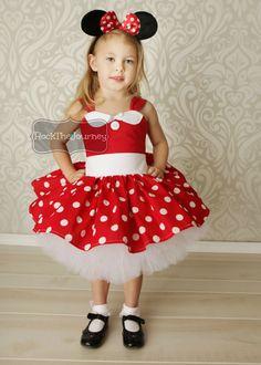 Red Minnie Tutu Dress Outfit-Retro Diner por RockTheJourney en Etsy