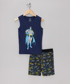 Defend a full night of sleep and protect those z's with this Batman pajama set. Featuring airy tank cut and graphic that jumps right off the front, this PJ set will give any little caped crusader a superhero's slumber. Note: For your children's safety, this item is designed to fit snugly as it is not flame-resistant.