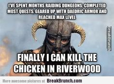 Finally I can kill the chicken in riverwood � Skyrim