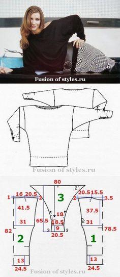 Блуза летучая мышь | СЛИЯНИЕ СТИЛЕЙ
