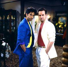 "Ross (David Schwimmer) and Chandler (Matthew Perry) in ""Friends."""