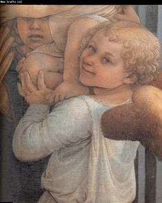 Details of Madonna and Child with Two Angels Fra Filippo Lippi