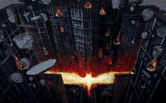 Such cool street art... this dude is talented. #DarkKnightRises