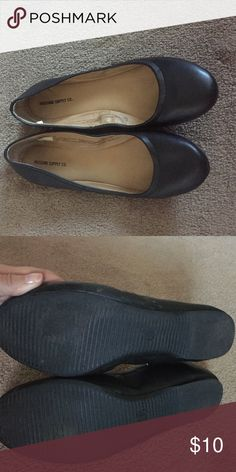 5c3526cee3c2c Black flats Black flats from Target. No holes or stain. Runs small. Make  offer an offer Shoes Flats   Loafers