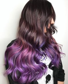"Geode Hairstyle Iridescent "" Purple Highlights"" Hair Color Technique is trending now in Los Angeles"