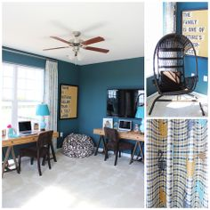 The Randolph model home at Arcadia Chase in Charles Town, WV- http://arcadia-chase.com/homes/our-homes/the-randolph-arcadia-chase/ [Photo Credit: Borcz+Dixon] #homedecor #workspace #kidsroom #recroom #mediaroom #homedecorideas #recreationroom #study