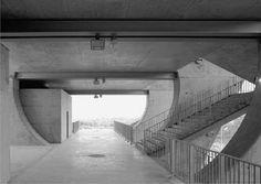 Estadio Municipal de Braga. Escaleras grada norte.