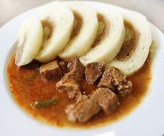Denné menu Vranov | Bravčový maďarský guláš, kysnuté knedle - reštaurácia Hotel Patriot*** #hotel #restaurant