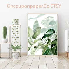 New tropical watercolor prints are quickly becoming our new best sellers.    #printablewallart #botanicalprint