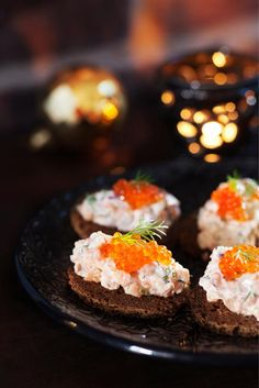 Lohimousse // Salmon Mousse Food & Style Uura Hagberg Photo Satu Nyström Maku www. Finland Food, Finnish Recipes, Party Food Platters, Scandinavian Food, Bbq, Good Food, Yummy Food, Everyday Food, Food Inspiration