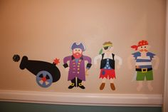 """Whimsical Boys Pirate Bathroom, I wanted a fun pirate theme for my boys bathroom without being TOO """"pirate-y.""""  So, I decided on cheery blue..."""