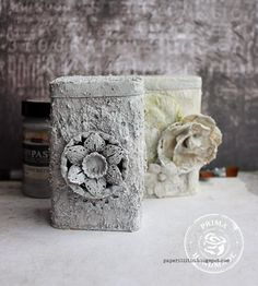 "Stone Effect Paste - Yes, a paste that adds a ""stone-like"" appearance to your mixed-media elements! Now how cool is that?"