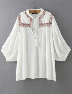 5386b2b9e914e Ethnic Style Cape Sleeve Blouse in Embroidery Detail - US 11.10 -  ClothesCheap.com  . Cheap BlousesCheap ShirtsBlouses For WomenWomen s ...