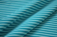 Organic Stretch Jersey fabric - Lillestoff - Stripe teal / aqua - 1/2 yard via Etsy