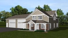 Cottage Country Craftsman Garage Plan 50661
